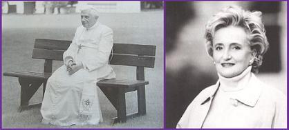 Le Pape et Bernadette.