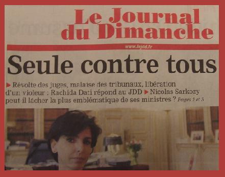 La Une du JDD 26 octobre 2008