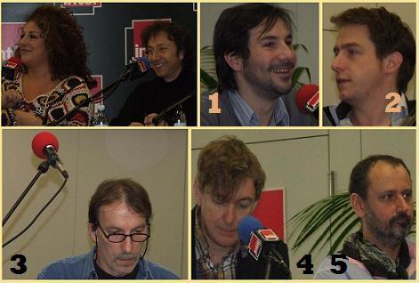 Marianne James et les chroniqueurs du Fou du Roi ( sur France-Inter).