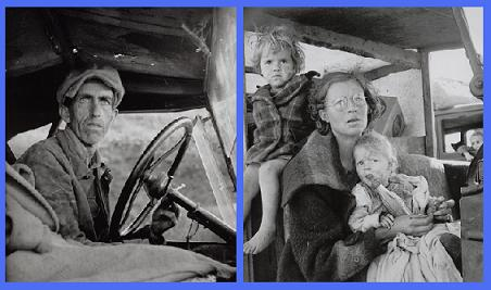 Deux photographies de Dorothea Lange.