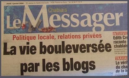 La Une du Messager (1 janvier 2009)