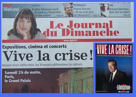 Le JDD 2009 et Libération 1984