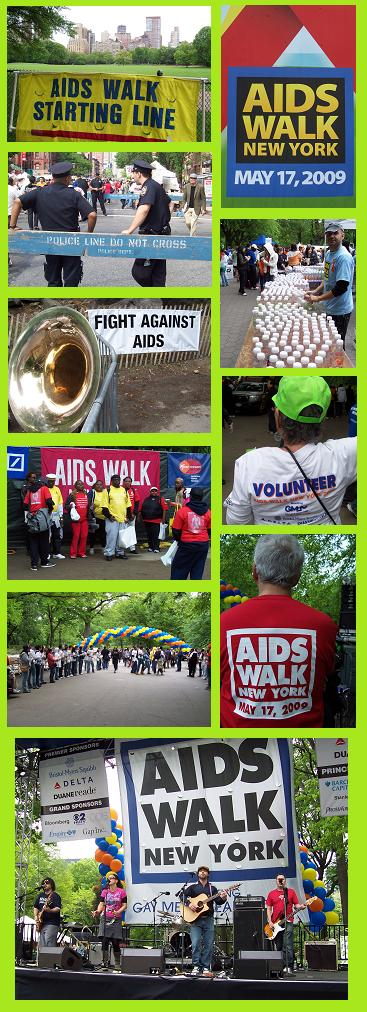 Aids Walk à New York le 17 mai 2009.
