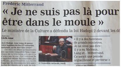 Mitterrand Frédéric, modeste artiste.
