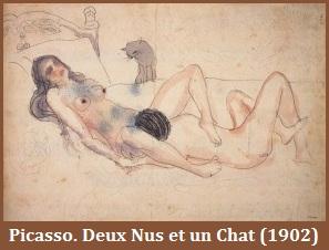Picasso Deux nus et un chat