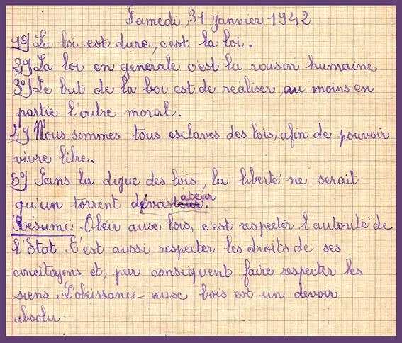 La Loi Petain 31 janvier 42