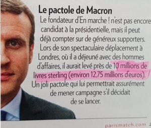 Pactole Macron